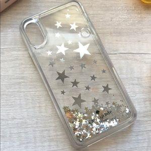 Kate spade glitter iPhone X/xs case